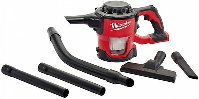 New Milwaukee Compact Hand Vacuum HEPA Filter M18 with Attachments (Tool-Only)