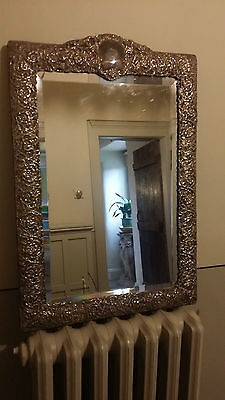 Large Silver dressing mirror 1902 made in Chester