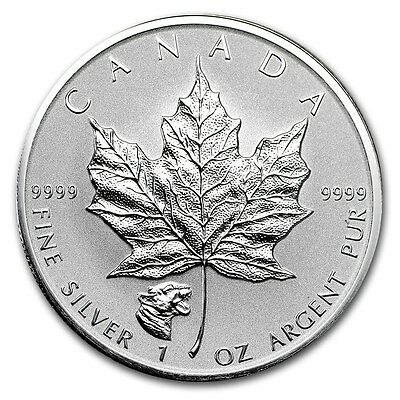 CANADA 5 Dollars Argent 1 Once Maple Leaf 2017 Marque Cougar - 1 Oz silver coin