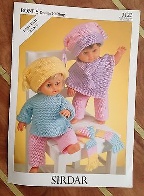 Sirdar Double Knitting Pattern for Dolls Clothes - 3123  Size 31cm to 56cm