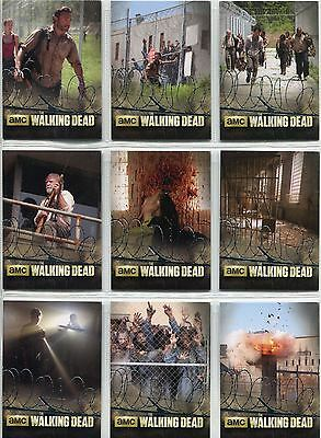 The Walking Dead Season 3 Part 1 Complete The Prison Chase Card Set TP1-9