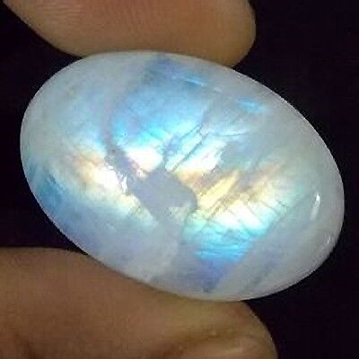 NATURAL FIERY RAINBOW MOONSTONE (24 x 14 mm) LARGE OVAL SHAPE 19.55 Cts.
