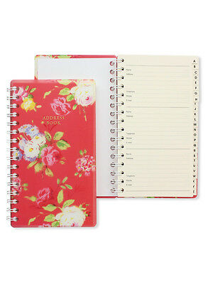 Christine Red Floral A-Z Name Addresses Telephone Number Address Record Book