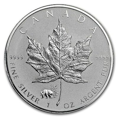 CANADA 5 Dollars Argent 1 Once Maple Leaf 2017 Marque Panda - 1 Oz silver coin