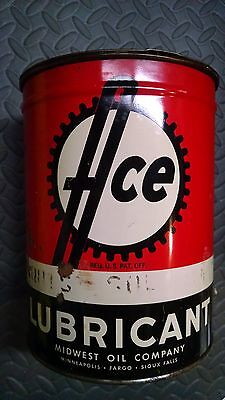 Ace Lubricant Grease Can Vintage Midwest Oil Company 5 pound Minneapolis