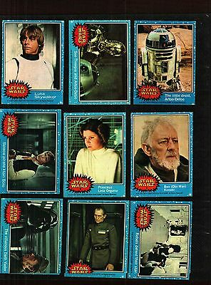 1977 Topps Star Wars Cards Series 1 Blue Excellent++ To Some  Near Mint