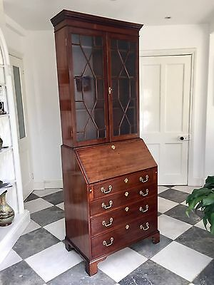 Early 20thc Good Quality Faithful Reproduction of an Antique Bureau Bookcase