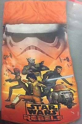 NEW Star Wars Rebels Boys Sleeping Bag Camping Sleepover orange