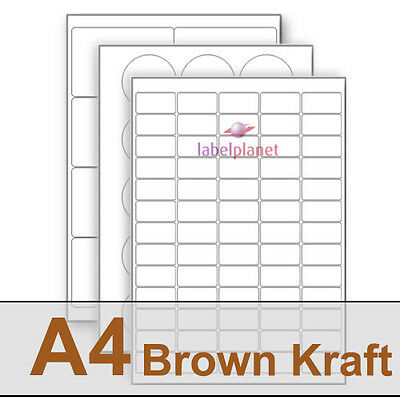 A4 Brown Kraft Paper Labels, all Natural. No Bleach, Eco Friendly Label Planet®