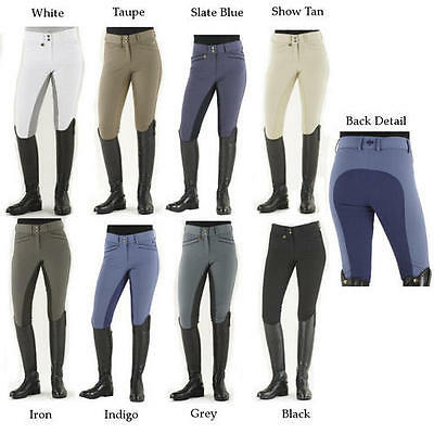 Ovation Women's Celebrity Slimming Knee Patch Dx Breeches Iron 30 R
