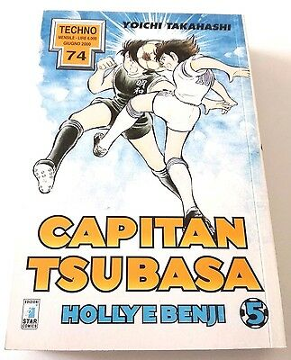 Capitan Tsubasa N.5 Holly E Benji Manga Star Comics Techno 74 Prima Edizione!