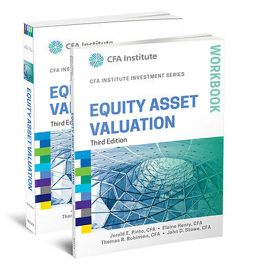 Equity Asset Valuation Book and Workbook Set, Jerald E. Pinto