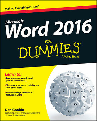 Word 2016 For Dummies, Dan Gookin