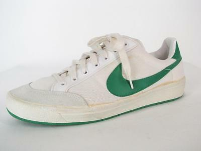RARE 1980 Vintage NIKE Wimbledon Court Tennis Sneakers Shoes White/Green 11.5 80