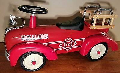 Cp Toys Hook & Ladder Fire Truck Ride On Steel Toddlers Kids