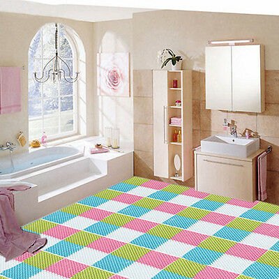 Sale Candy-colored Free Stitching Plastic Bath Mat PVC Non Slip Shower Mat