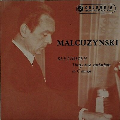 "Malcuzynski~Beethoven~Thirty-Two Variations In C Minor~Sel 1611~7"" Ep~Near Mint"