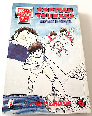 Capitan Tsubasa N.6 Holly E Benji Manga Star Comics Techno 75 Prima Edizione!
