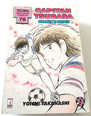 Capitan Tsubasa N.9 Holly E Benji Manga Star Comics Techno 78 Prima Edizione!