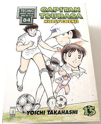 Capitan Tsubasa N.15 Holly E Benji Manga Star Comics Techno 84 Prima Edizione!