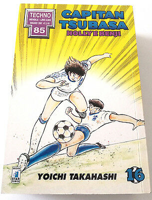 Capitan Tsubasa N.16 Holly E Benji Manga Star Comics Techno 85 Prima Edizione!