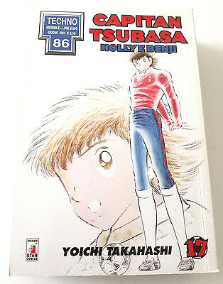 Capitan Tsubasa N.17 Holly E Benji Manga Star Comics Techno 86 Prima Edizione!