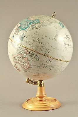 VINTAGE 12 INCH** REPLOGLE WORLD CLASSIC SERIES GLOBE Wood and Brass Stand