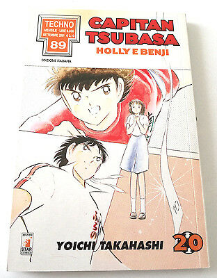 Capitan Tsubasa N.20 Holly E Benji Manga Star Comics Techno 89 Prima Edizione!