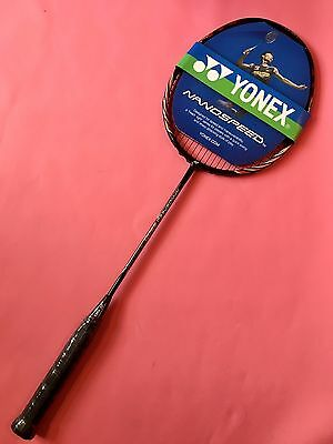 Nanospeed 9900 Badminton Racket With Genuine String YONEX BG80 Power-white