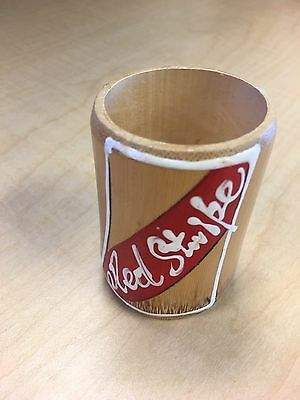 Hand Carved Jamaican Red Stripe shot glass