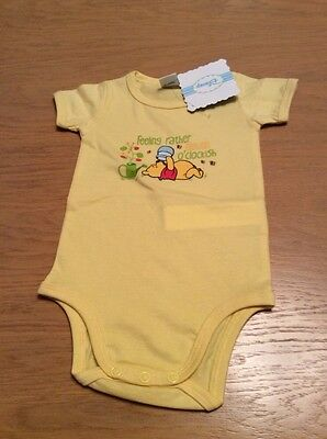 BNWT Boys Yellow Winnie The Pooh Disney Body Suit (12 Months) **FREE UK P&P**