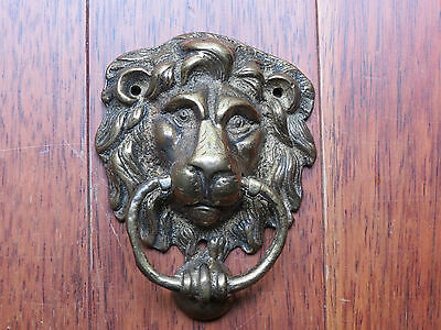 Vintage Antique Lion Head Solid Brass Door Knocker