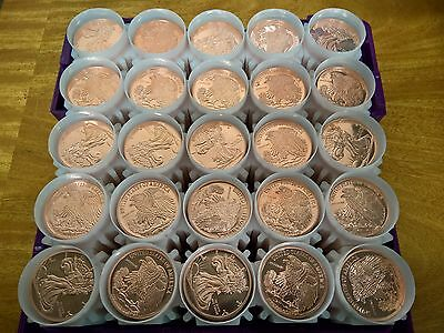 500 - Walking Liberty Design .999 1 oz. Copper Rounds. 500 coins total. BU