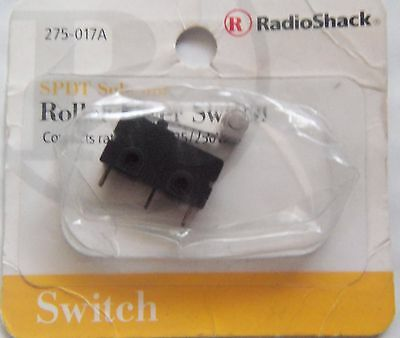 SPDT Submini  Roller Lever Switch 5A 125/250VAC #275-0017 By RadioShack