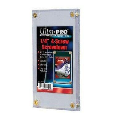 (200) Ultra Pro 4 Screw Screwdown Recessed Sports Card Holder PVC - CASE NWT
