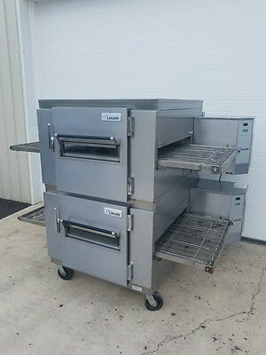 "Lincoln Impinger Model 1450 Double Stack Gas Pizza Oven ***32"" Belt Width***"