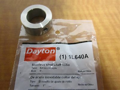 """Standard Set Screw Style Shaft Collar, 1"""" Bore, 1-5/8"""" OD, Stainless Steel, NEW"""