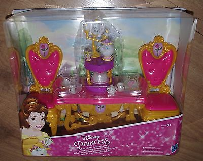Disney Princess Beauty and The Beast Belle Be Our Guest Dining Set Lumiere chip