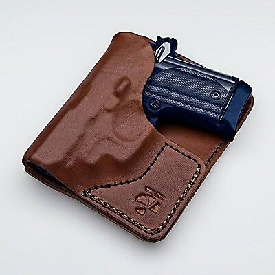 Talon Sig Sauer P-238 Leather Wallet Holster Right Hand Brown No Laser