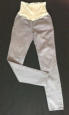Pre-owned GAP 1969 MATERNITY Panel Sz 25/0 Gray Skinny Jeans Secret Belly Pants