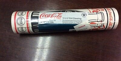 Coca Cola Brand Wall Covering 8 1/2'' X 5 Yds New Pre-pasted Coke Bottles