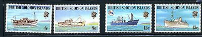 1975 British Solomon Islands Scott 285-288 Mint NH Container Ship P&O Lines