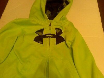 Under Armour boys dri fit lime green navy jacket size 4T