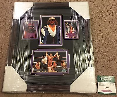 """Randy """"macho Man"""" Savage Signed Autographed Framed & Matted  Display Sgc Auth"""