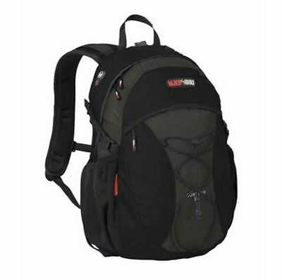 New Black Wolf Contour 28L Day Pack Backpack Camping Hiking Zipped Bags Black