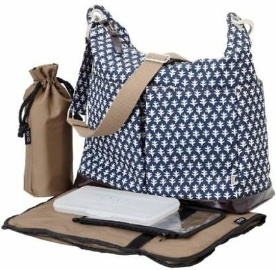 OiOi Navy Print Hobo Baby Changing Bag #6608 Free Shipping