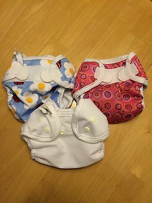 Lot of 3 Bummis diaper covers size S