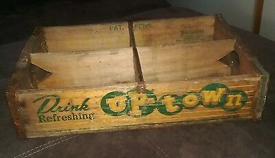 Vintage soda pop crate, UPTOWN 6x4 style. Rare Mid West soft drink collectible