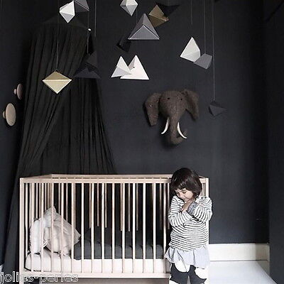 Black INS HOT Round Lace Curtain Dome Canopy Netting Princess Mosquito Net