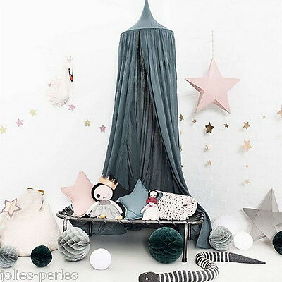 Hot Ink Green Round Lace Curtain Dome Bed Canopy Netting Princess Mosquito Net